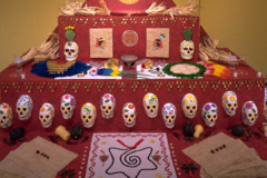 """Homenaje a Tenochtitlan: An Installation for the Day of the Dead (Homage to ancient Mexico City, and Doña Marina, """"la Malinche"""")"""