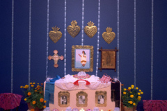 """Homenaje a Tenochtitlan: An Installation for the Day of the Dead (Homage to ancient Mexico City, and Doña Marina, """"la Malinche""""), 1992. #DoD1992e. Detail of """"La Malinche"""". Image 14"""