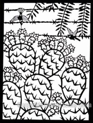 <h5>Persistence (hummingbird with cactus)</h5>